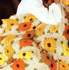 daisy motif afghan free pattern pdf