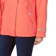 Joules Coast Waterproof Hooded Jacket - Fluro Orange | Free Delivery*