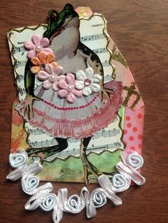 https://flic.kr/p/Z9guVd | Frog and Flowers Gothic Arch ATC
