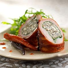 Rabbit Roulade Stuffed with California Wild Rice - California Wild Rice Advisory Board Wild Rice Recipes, Meat Recipes, Whole Food Recipes, Rabbit Recipes, Cooking Recipes, Game Recipes, Recipies, Rabbit Dishes, Rabbit Food