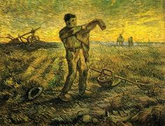 Evening - The End Of The Day (After Millet) 1889 Vincent van Gogh