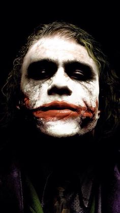 My favorite photo of Heath Ledger as The Joker himself The Dark Knight
