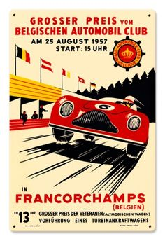 Vintage Francorchamps 12 x 18 inches Tin Sign, $24.98 (http://www.jackandfriends.com/vintage-francorchamps-12-x-18-inches-tin-sign/)