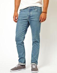 ASOS Skinny Jeans In Light Blue