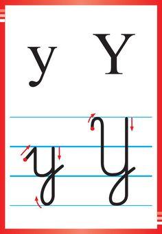 Alfabet polski, pisany dla dzieci do druku 39 Kids Education, Kids Learning, Montessori, Hand Lettering, Alphabet, Preschool, Calligraphy, Letters, Math Equations