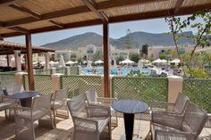 #Greece #Crete Heraklion, Beach Hotels, East Side, Crete, Pergola, Outdoor Structures, Patio, Traditional, Building