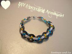 DIY Upcycling Bracelet must try! #ecrafty #upcycledbracelets