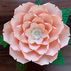 Giant Paper Flower Templates | 3D Large Paper Flower Stencil Pattern | DIY Handmade Paper Flowers | Paper Flower Decor and Backdrop for Weddings and Events