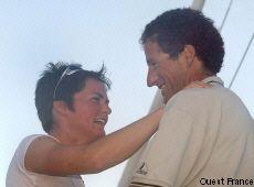 Ellen Macarthur et Michel Desjoyeaux