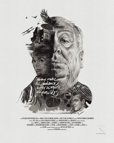 Movie Director Portrait: Alfred Hitchcock by Stellavie & Julian Rentzsch, via From up North