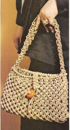 Vintage Macrame Purse by LdyHeartsPatterns on Etsy, $3.50