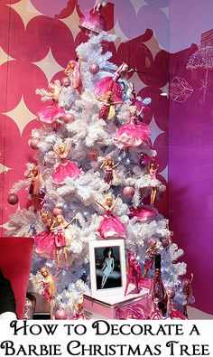 Barbie Christmas trees are fun, nostalgic, and girlie.  Here are a few ways to decorate a Barbie Christmas tree.