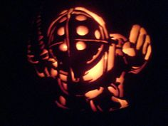 Bioshock Big Daddy Pumpkin by CousticHippy.deviantart.com on @deviantART