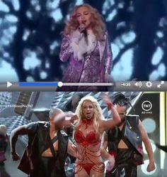 Video. Actuaciones de Madonna y Britney Spears en los Billboard Music Awards 2016