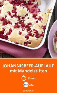 Johannisbeer-Auflauf - mit Mandelstiften - smarter - Kalorien: 212 Kcal - Zeit: 25 Min. | eatsmarter.de