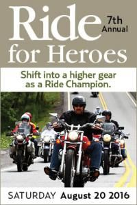 Brattleboro, VT - Aug. 20, 2016: 7th Annual Ride for Heroes to support our Uniformed Service Program for these brave men and women who struggle with addiction and depression as a consequence of their duty.