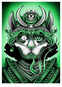 Incredible illustration - lines are very distinct and a very limited colour palette (monochromatic). // Serpent Messenger: Screen-printed Poster by Pale Horse, via Behance Screen Print Poster, Poster On, Omg Posters, Pale Horse, Manga Comics, Chicano, New Art, Walt Disney, Screen Printing