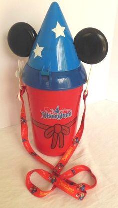 "Disney Parks Popcorn Bucket Mickey Mouse Fantasmic Sorcerer's Apprentice 14"" | eBay"