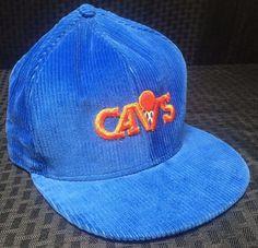778b85cf79e Cleveland Cavaliers Cavs Mens Vintage Snapback Hat Corduroy Blue NBA  AJD  ClevelandCavaliers  Nba Sports