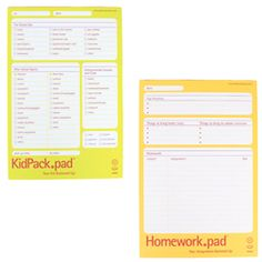Kid Lists - what a great idea to help them remember