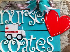 Personalized nurse/doctor sign  by BusyLizziesGifts on Etsy, $34.00