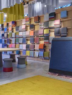 Kvadrat's stand at Design Post in Cologne, designed by Werner Aisslinger.