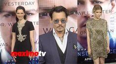 Johnny Depp, Marilyn Manson, Kate Mara, Rebecca Hall TRANSCENDENCE Premiere