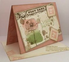 Stampin' in the Sand: Happy Post Card. Stampin Up Happy Watercolor