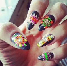 Lily Allen Nail Art