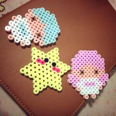 Little Twin Stars Sanrio perler beads by flaminko_shop