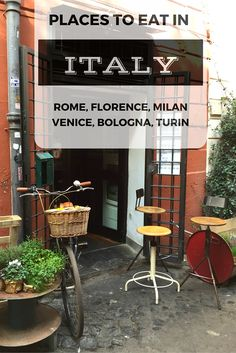 If you are traveling to Italy, and planning to vist the main cities, you wouldn't want to leave home without this list, especially if you intend to eat well. We reached out to friends with inside knowledge on each city and they have generously shared their favorite places to eat   BrowsingItaly.com