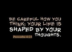 take your thoughts captive...