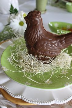 place setting for Easter dinner
