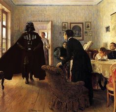"Derp. ""I find your lack of faith disturbing."" - Vader...."