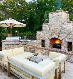 30 Gorgeous Outdoor Kitchens - Style Estate - Snart dags för grilltider. Lagar gärna mat ute!
