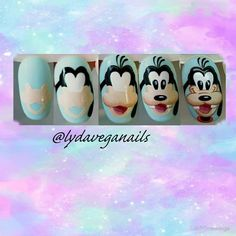 Chic@s les dejo el Paso a paso 😊💅🏻 @lydaveganails #pasionuñas #uñas #nails #nailart #pasoapaso #guffy #esmalte #diseño #uñasconestilo… Disney Nails, Disney Drawings, Cartoons, Comic, Nail Art, Painting, Disney Nail Designs, Disney Nails Art, Kawaii Nails