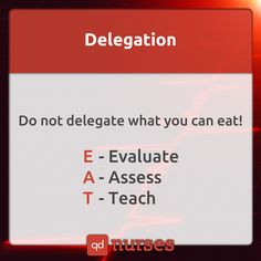 Know what you can EAT in a delegation. --- @Emfeland