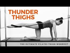 Need some new repertoire on the Caddie? Look no further, this Thunder Thigh workout is perfect for you or your clients. Your thighs will definitely feel the . Pilates Reformer Exercises, Pilates Workout, Gym Workouts, Thigh Exercises, Thigh Workouts, Thunder Thigh Workout, Pilates Tower, Pilates At Home, Lose Thigh Fat