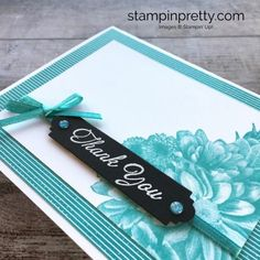 Learn how to create a simple thank you card using Stampin Up Heartfelt Blooms - Mary Fish StampinUp