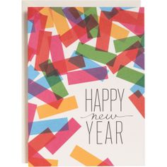 Colorful Confetti New Year Cards