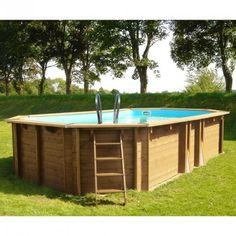Piscina de madera Gre Sunbay ovalada 590x365x130 KWOV637