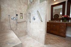 Wheelchair Accessible Bathroom by One Week Bath