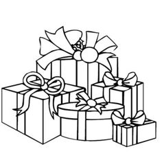 christmas presents various size of christmas presents coloring pages various size of christmas presents - Christmas Present Coloring Pages