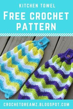 Use this free crochet pattern to make a kitchen towel for your contemporary home. Crochet Dish Towels, Crochet Towel Topper, Crochet Kitchen Towels, Crochet Dishcloths, Crochet Granny, Irish Crochet, Crochet Home, Crochet Gifts, Easy Crochet