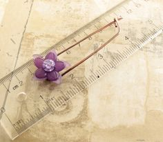 Copper shawl pin scarf pin in safety pin design with by IngoDesign, $26.00