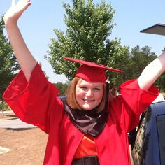 She did it! Hello Belmont Abbey.