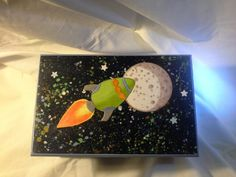 Hand crafted space theme boy box. $27.00 http:www.etsy.com/Enchantedgiftss? ref=si_shop