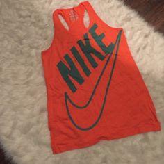 Nike Racerback Orange and slate blue/green racerback top. Size XL. Nike Tops Tank Tops