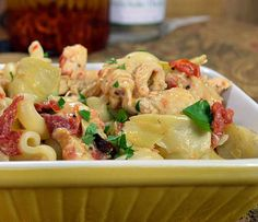 Chicken, Artichokes and Sun Dried Tomatoes with Pasta