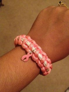 Breast Cancer Awareness Paracord Bracelet.